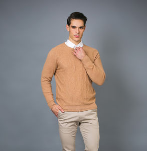 Men′s Fashion Cashmere Blend Sweater 17brpv077 pictures & photos
