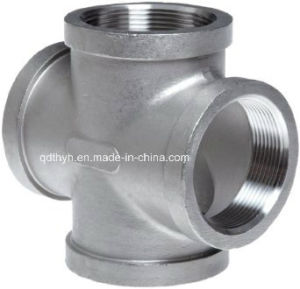 "Stainless Steel Pipe Fittings - Equal Cross 3/4"" NPT Female - 150lb pictures & photos"