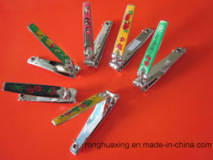 N-608bc CE Complicant Carbon Steel Nail Clipper with Nail File and Rubber Surface pictures & photos