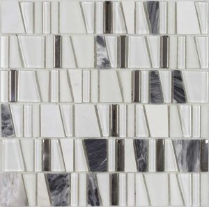 Crystal Vs Stone Mosaic Mixture Tile (LADDER-C10)
