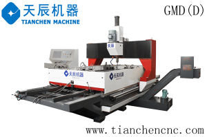 Dual-Worktable Gantry Movable CNC Drilling Machine for Plates (GMD1610D/GMD3016D) pictures & photos