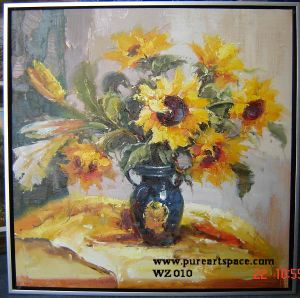Oil Painting Flower (WZ010)