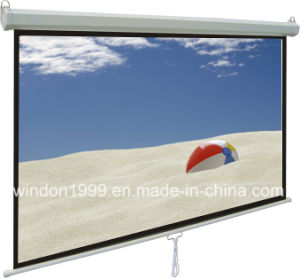 Manual Pull Down Projector Screen / Manual Wall Screen pictures & photos