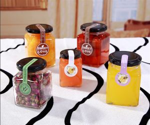 Different Size Square Shaped Glass Jar for Food Packaging