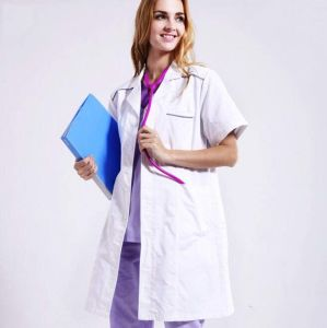 NEW LADIES WHITE POLY//COTTON HEALTHCARE LAB MEDICAL COAT FOOD HYGIENE OVERALL
