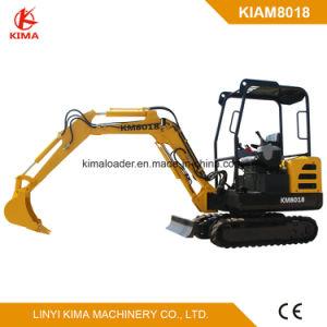 Kima Brand 1800kg Small Excavator Swing Boom Rubber Track
