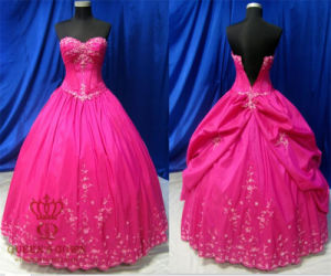 Hot Pink High Quality Prom Dresses Evening Gown