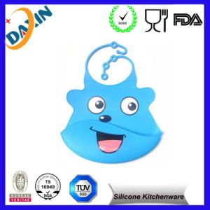 Food Grade Waterproof Big Bib Soft Silicone Baby Bib pictures & photos