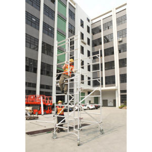 High Quality Aluminum Folding Scaffolding with Wheels