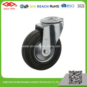 200mm Swivel Plate Black Rubber European Type Caster Wheel (P102-11D250X60) pictures & photos