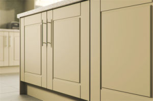 New Design off White PVC Membrane Coated Kitchen Cabinet pictures & photos
