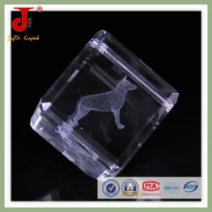 Factory Wholesale 3D Laser Engraved Crystal Cube pictures & photos