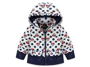 C1283 Winter Baby Kids Girls White Duck Down Coat Short Hooded Micky Thick Coat Outwear Children Baby Cotton Padded Jacket pictures & photos