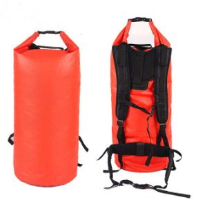 50L Red Waterproof Travel Backpack Dry Bag with Handle (MC4027) pictures & photos