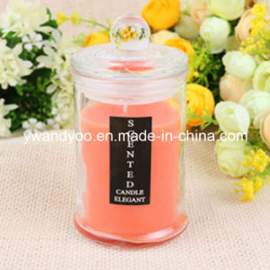Scented Soy Decorative Candle in Tall Glass with Lid