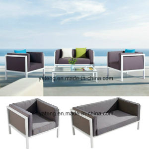 Euro-Design Comfortable Outdoor Garden Aluminum Furniture Sofa Set with Single & Double Seat 100% Waterproof (YT957) pictures & photos