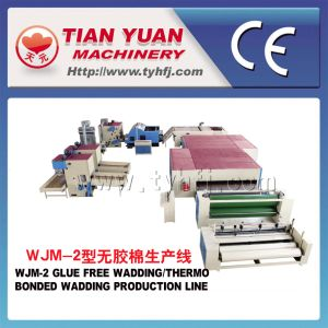 Wjm-2 Non Woven Glue Free Wadding and Felt Making Machine pictures & photos