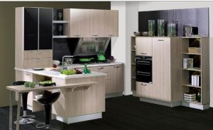 Kitchen Cabinet Simple Design Laminated Wooden Kitchen Furniture pictures & photos