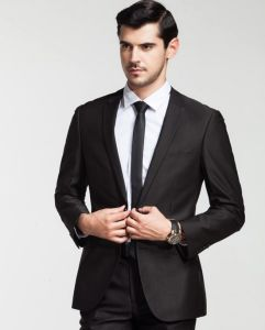 100/% Wool Fashion Business Suit Classic Regular Fit Solid Color