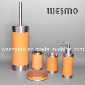 Rubber Oil Coating Stainless Steel Bathroom Set (WBS0509B) pictures & photos