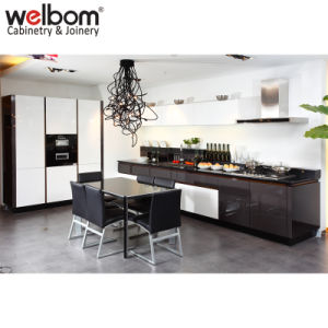 China Welbom High Gloss Black Modern Kitchen Cabinets China High