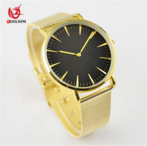 New Style Promotion Stainless Steel Strap Watch Custom Design OEM Gold Plated Luxury Watch Wholesale Factory Watch#V837