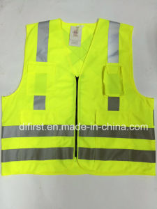 Reflective Safety Wear with Four Pockets (DFV1013) pictures & photos