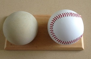 "9"" Rubber Sponge Center PVC Leather Baseball"