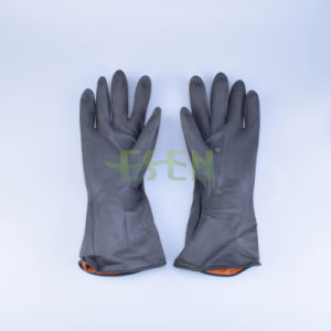 Black of Household Rubber Gloves Household Cleaning Gloves Household Washing Gloves pictures & photos