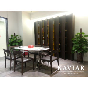 Kaviar Unique Design Modern Wooden Bookcase with Single Cabinet (BC105)
