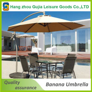 China 3m Deluxe Outdoor Hanging Offset Banana Type Patio Umbrella