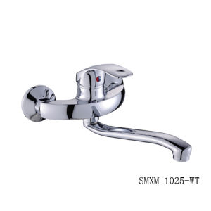 Wall-Mounted Kitchen Mixer with Single Handle (SMXM 1025-WT)