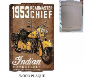Wooden Decorative Plaque Wall Wood Newest Style Board with  Motorcycle pictures & photos