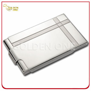 Stainless Steel Cover Pink Leather Business Name Card Case pictures & photos