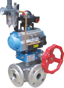 Pneumatic 3 Way Ball Valve Hat-100d pictures & photos