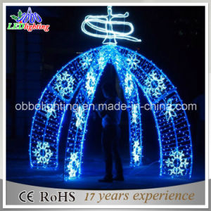 street arch decorative christmas led arch with snowflake lights