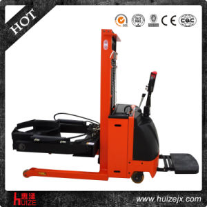 Forklift Full-Electric Oil Drums Stacker Truck