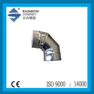 90 Degree Elbow with Embossing for Chimney Pipe pictures & photos