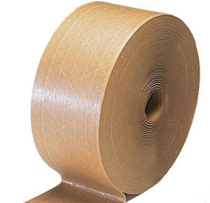 Economy Grade Water Activated Reinforced Kraft Gum Paper Sealing Tape
