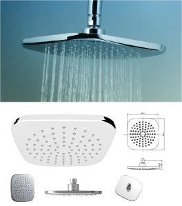 China Plastic Shower Head Overhead Oxygenic Bathroom Rain Shower