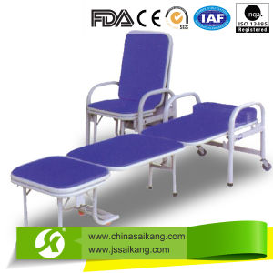 Hospital Luxury Wooden Accompany Chair Bed pictures & photos