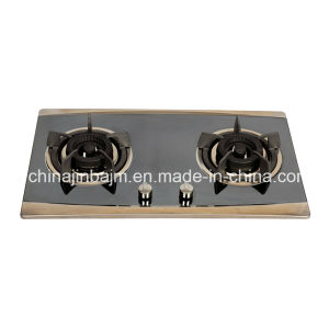 2 Burners 730 Length Color-Coated Stainless Steel Built-in Hob/Gas Hob pictures & photos
