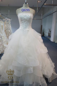 A-Line Ivory Bridal Gown for Wedding