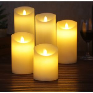 2-Key Battery Operated Flickery Plastic LED Candle pictures & photos