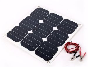 Photovoltaic 30w 18v Flexible Solar Panel Sun Mono Cell Outdoor Charger For Yacht Rv Boat