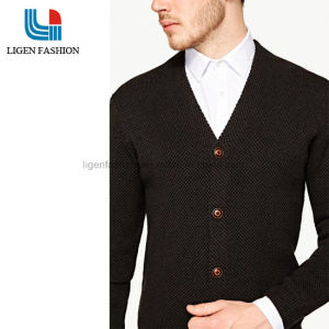 6035a9f5f67 China Men Spring Autumn V Neck Business   Casual Black Cardigan ...