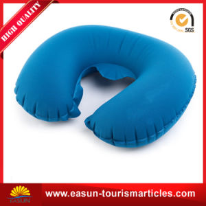 Velvet Inflatable Neck Pillow for Aviation pictures & photos