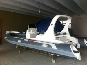 Liya 6.2m Fiberglass Rigid Inflatable Boat Commercial Inflatable Rib Boats pictures & photos