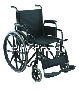 Functional Steel Manual Wheelchair Alk903b pictures & photos