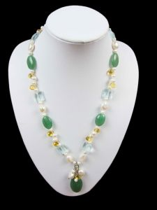 Fashion Female Beautiful Freshwater Pearl Necklace Jewelry (XL1201)